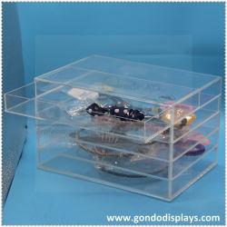 カスタム高品質ファッションラグジュアリービューティークリアアクリルコスメティックオーガナイザー ジュエリーディスプレイ収納キュートメイクボックスケース引き出し 5 個付き