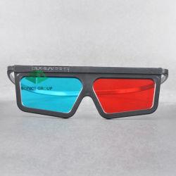 En plastique rouge Cyan lunettes 3D (SN3D 033P)
