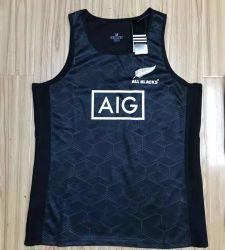 Nieuw-Zeeland NRL All Black Team Fiji Cross Chief Sleeveless Olijfvest Rugby Jersey