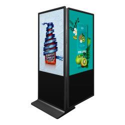 El software de Cms Alojamiento Publicidad Digital Signage, en el interior de la pantalla táctil de 55 pulgadas de doble lado Quiosco de publicidad