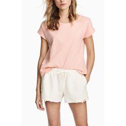 Плюс размер мода мультфильм полосатый ребра женские футболки