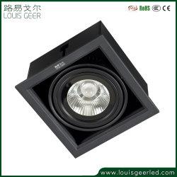 알루미늄 LED 다운라이트 15W 화이트 블랙 LED 다운라이트 천장 조명 LED 매입형 그릴 조명