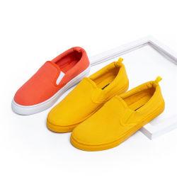 Estilo Casual Mujeres Chinas Simple Lienzo Zapata vulcanizado Low-Cut zapatos mujer zapatos perezoso