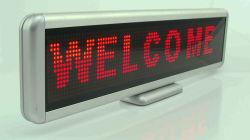 赤いColor Desk LED Moving Sign 16X96