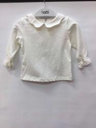 Bambino del risvolto del cotone del rivestimento di autunno dei bambini bianchi della camicia della neonata sottile della molla della camicia delle ragazze e della sezione di autunno che basa camicia