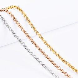 Klassisches Gold überzogene Belcher Rolo KettenEdelstahl-Halsketten-Armband-Fußkettchen-Form-Schmucksachen angepasst