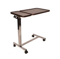 Multifunctionele tafel met overbed, in hoogte verstelbaar, inklapbaar, draagbaar mobiel Hulp
