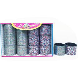 6.5cm floreali e giocattoli termici della molla del Rainbow di stampa di trasferimento di figura del cuore 2 disegni Assorted