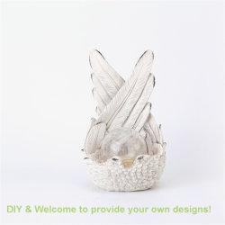 Quanzhou 제조자 출구 Polyresin 평화 천사의 날개 동상 태양 가벼운 홈 또는 정원 훈장