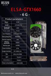 Эльса графическая плата NVIDIA GTX1660 6g VGA-карта