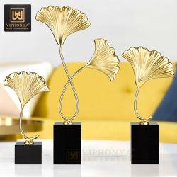 Regalo de navidad de la moda moderna decoración Living Leaf Artesanía