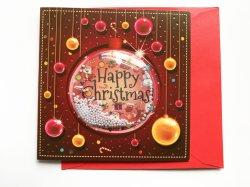 El papel de Tarjetas de Felicitación Tarjetas de Regalo de navidad con Glitter y Hotfoil y Diamante