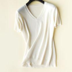 2020 in te ademen Kasjmier V de Lege T-shirts van de T-shirts van de T-stukken van de Vrouwen van de Hals