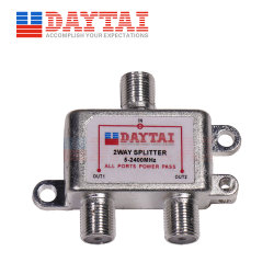 5-2400MHz TV numérique coaxial 2 voies répartiteur d'antenne Satellite