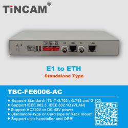 E1 إلى محول البروتوكول Eth (TBC-FE6006-AC)