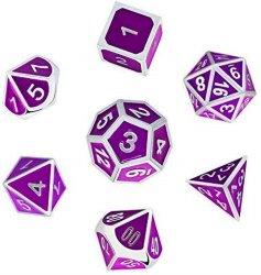 紫色のカスタムPolyhedral物語のダイスの一定の金属のDnd D10のダイス
