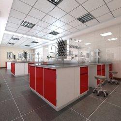 Стальной верхней части работы рабочей станции популярных деревянная мебель лаборатории