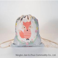 Impresión Digital de poliéster personalizadas Fox Cordón mochila para ir de compras o caminatas