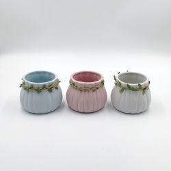 La Poterie de jardin simple, abordable et durable de l'environnement sanitaire être portable Stone semoir avec Bowknot