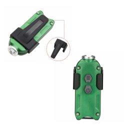 LED 小型懐中電灯、ブライトアルミニウムキーチェーンライト USB 充電式ミニポケットフラッシュライト( 3 モード、屋内および屋外用ポータブルトーチ付き