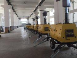Sistema de inclinación para lámparas de luz móvil generador de la torre de 13kVA/Kw telescópico Hidráulico Automático o Manual las piernas