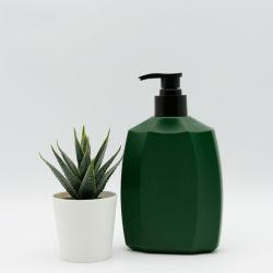 400 مل من قناني الرضاعة البلاستيكية HDPE Perfume الجراب المثني المحبوبة زجاجة زجاجية مع مضخة سوداء مرطخة