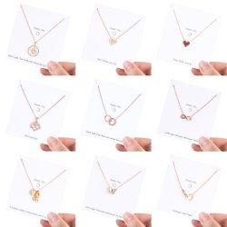 卸し売り注文のステンレス製 Alphabet の手紙のチャームの中心の最初女性 ネックレスの宝石類