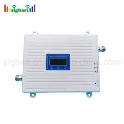 Fabricante China repetidor de señal GSM de banda triple DCS WCDMA 2G LTE 3G 4G 900 y 1800&2100 MHz repetidor de señal de 65dB