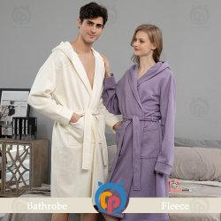 Les femmes et de velours chauffé de luxe Mens peignoir avec capot