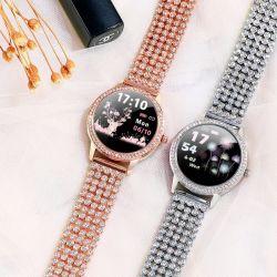 Best Selling Fashion Lw20 Diamond-Studded Aço dom para o amante de vigilância inteligente para Mulheres