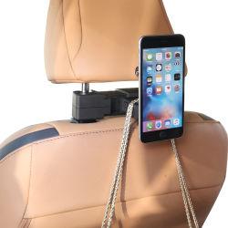 Reposacabezas del coche multifuncionales gancho para bolsos coche ajustable Gancho con soporte para teléfono