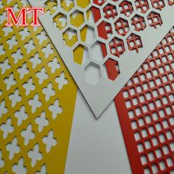 Décoratifs en aluminium cuivre en acier inoxydable élargi en treillis métallique en métal perforé Anping