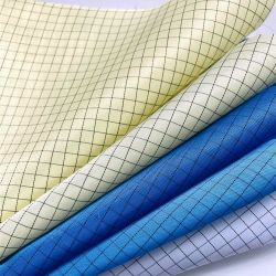 Une bande de 5 mm / grille non pelucheux pour salle blanche tissu de polyester ESD antistatique