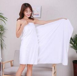 速く吸収性の白い浜の浴室タオルを乾燥するホームホテルのギフトのために極度の柔らかさの100%年の綿を広告する習慣