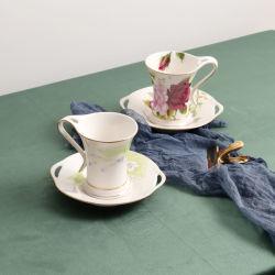 Set da caffè in porcellana, tazza da tè con decalcomania
