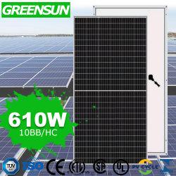 Greensun لوحة شمسية أحادية اللون عالية الجودة بقدرة 600 واط وبقوة 650 واط السعر
