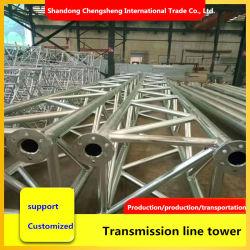 La estructura de acero galvanizado Acero Galvanizado torre de celosía para la transmisión de telecomunicaciones de alta tensión unipolar