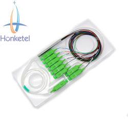 Напряжение питания 1X8 sc/APC Оптоволоконный PLC разветвитель Мини-модуль типа с 1.5m Fanout Blockless 0.9mm одномодовый кабель разветвитель с программируемым логическим контроллером