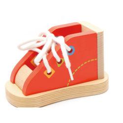 Безопасность детей в области образования интеллектуального деревянные игрушки малышу петельки башмаки головоломка игрушка