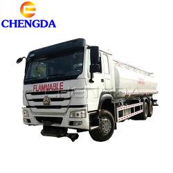ماكينة العوارة ذات العجلات HOWO 10 شاحنة ذات خزان وقود سعة 200 لتر و6X4
