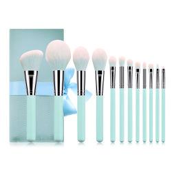 12pcs synthétique brosse cosmétique maquillage de voyage avec Housse Etui de roulement