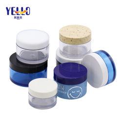 Tarro de crema de envases cosméticos vacía los contenedores de belleza