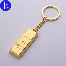 Barra de ouro Bullion Chaveiro Metal Personalizado Sublimação Personalizado Chaveiro Loja presente de promoção