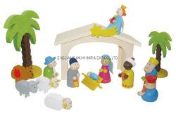 Jouets en Bois d'éducation intellectuelle pour les enfants de don, Noël Nativité portique de jeu