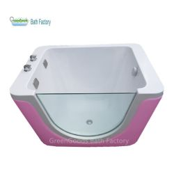 Greengoods는 스탠드와 LED가 있는 베이비 하이드로테라피 목욕 욕조를 생산합니다 라이트