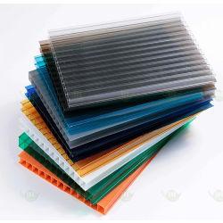Precio barato protección UV 6-10 mm de pared múltiple Hollow láminas de policarbonato