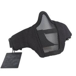 """6 складной пол с ячеистой сети"""" Mask военного стиля удобные регулируемые тактических нижней поверхности защитную маску"""