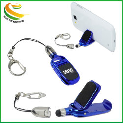 Рекламные новый карманный гаджет свисающими с кольцом рампы держатель телефона мобильного телефона коснитесь очиститель экрана резиновый наконечник Mini Cute стилус