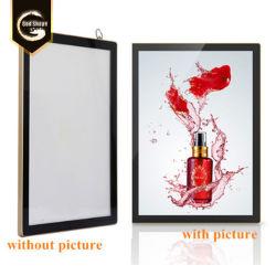 Fabbrica che fa pubblicità al contenitore chiaro acrilico di manifesto di film del blocco per grafici della foto