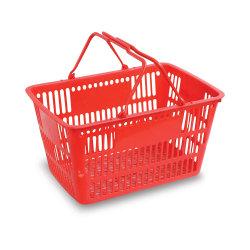 28L-32L cestas de compras de supermercado de plástico para almacenamiento